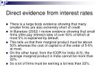 direct evidence from interest rates