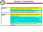 character 3 root operation18