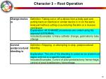 character 3 root operation19