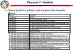 character 7 qualifier51