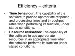 efficiency criteria