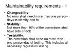 maintainability requirements 1