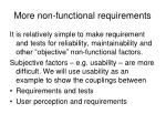 more non functional requirements