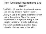 non functional requirements and quality