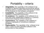 portability criteria