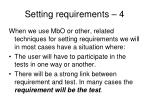 setting requirements 4