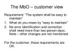 the mbo customer view