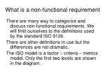 what is a non functional requirement