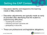 setting the eap context3