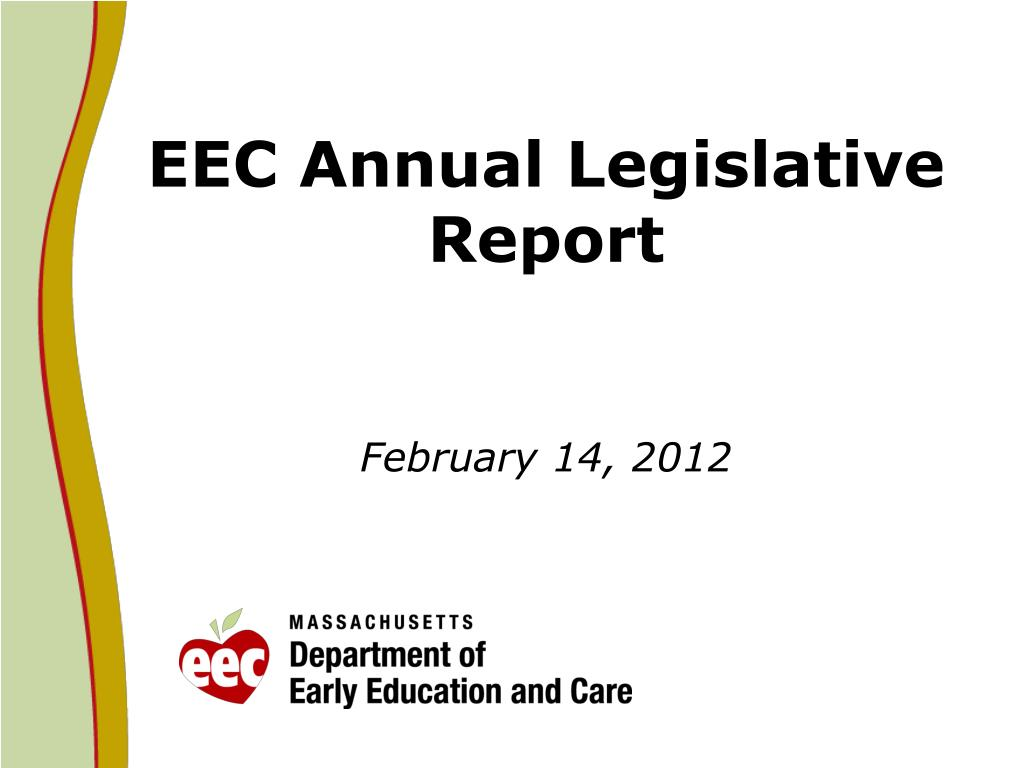 eec annual legislative report february 14 2012 l.