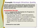 example strategic direction quality