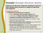 example strategic direction quality10
