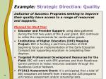example strategic direction quality11