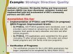 example strategic direction quality8