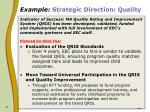 example strategic direction quality9