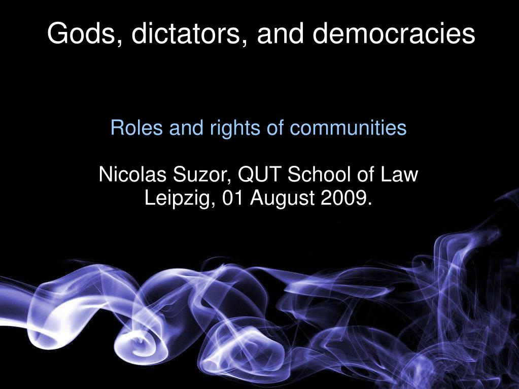 roles and rights of communities nicolas suzor qut school of law leipzig 01 august 2009 l.