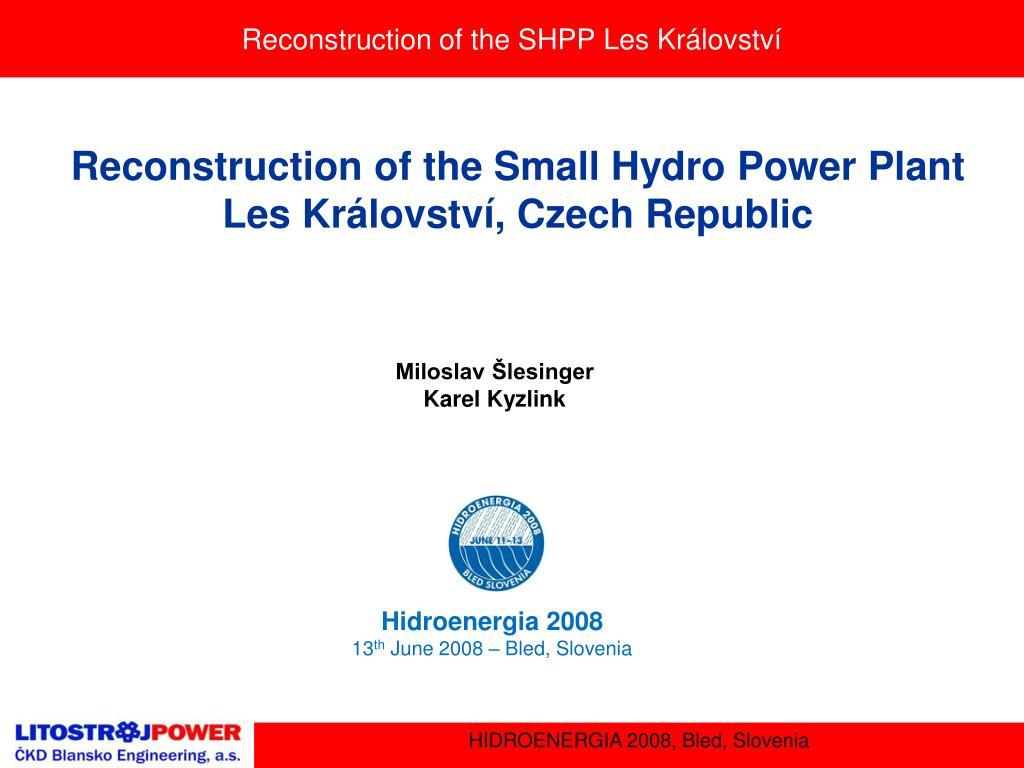 reconstruction of the shpp les kr lovstv l.