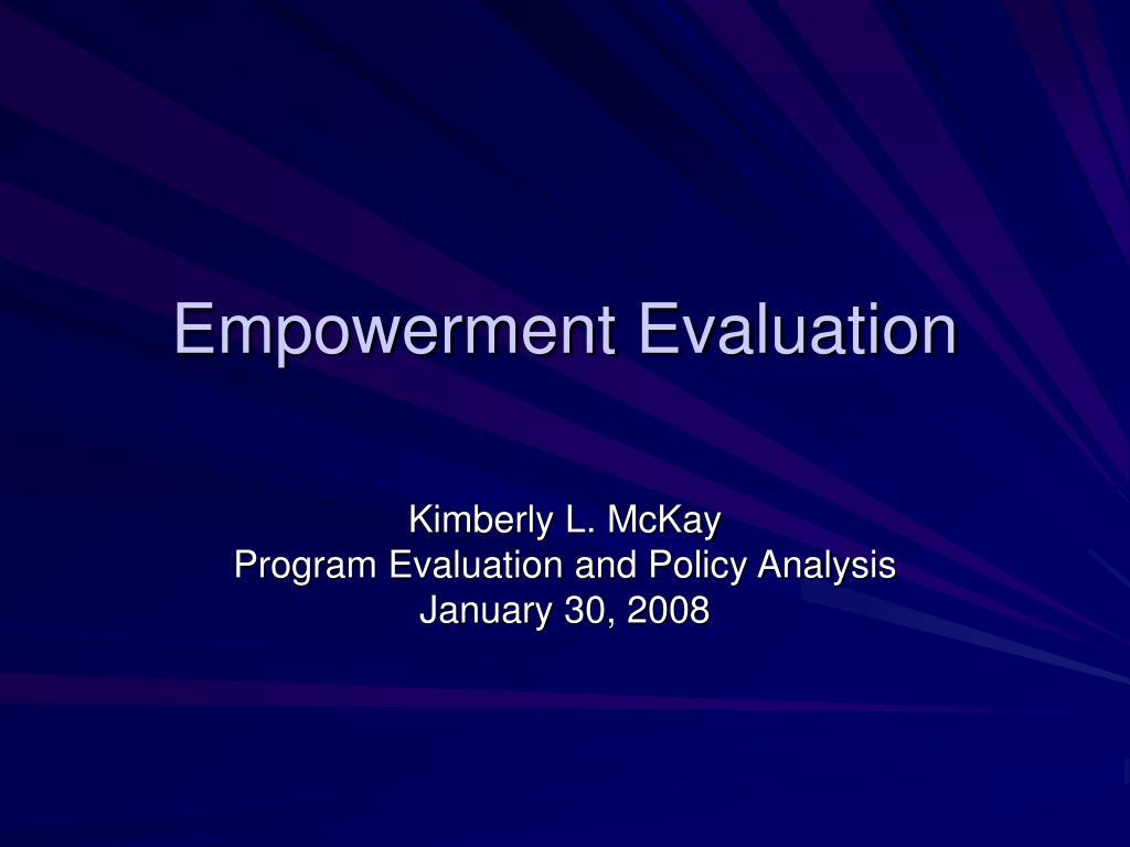 empowerment evaluation l.