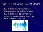 sarp evaluation project model