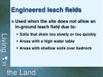 engineered leach fields