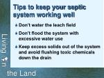 tips to keep your septic system working well