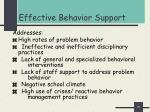 effective behavior support