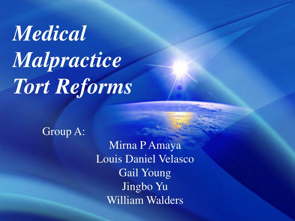 medical malpractice tort reforms l.