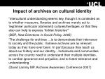 impact of archives on cultural identity