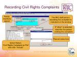 recording civil rights complaints31