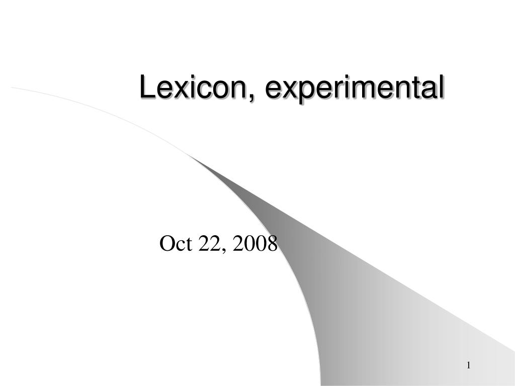 lexicon experimental l.