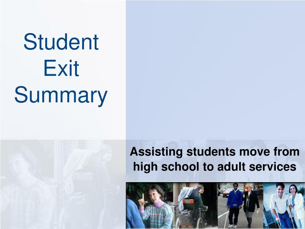 student exit summary l.