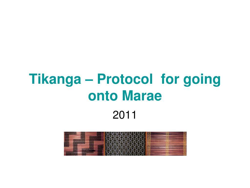 tikanga protocol for going onto marae l.
