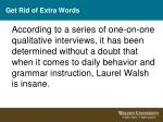 get rid of extra words
