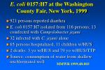 e coli 0157 h7 at the washington county fair new york 1999