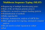 multilocus sequence typing mlst