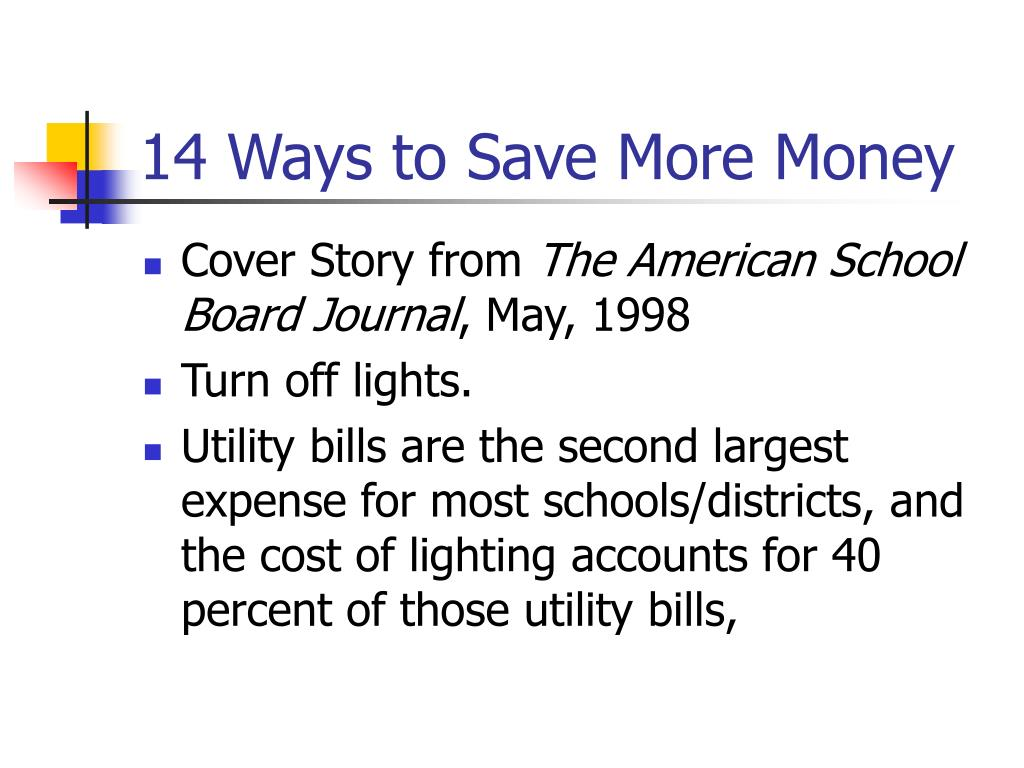 14 Ways to Save More Money