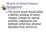 28 do s of school finance management