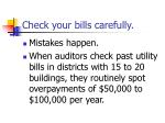 check your bills carefully