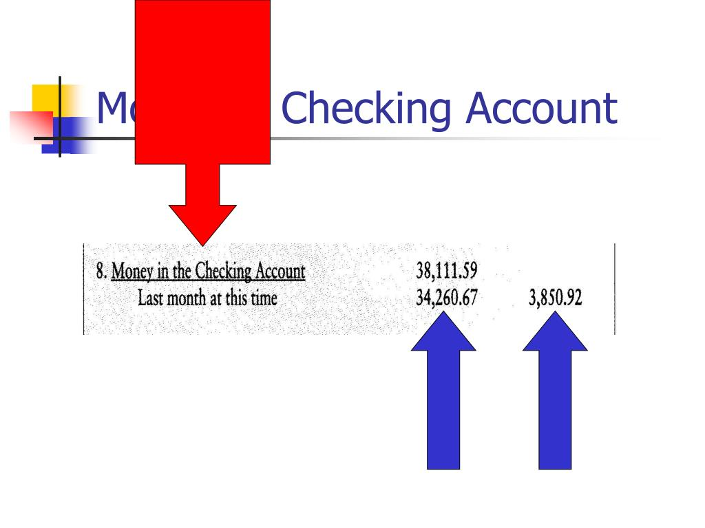 Money in Checking Account