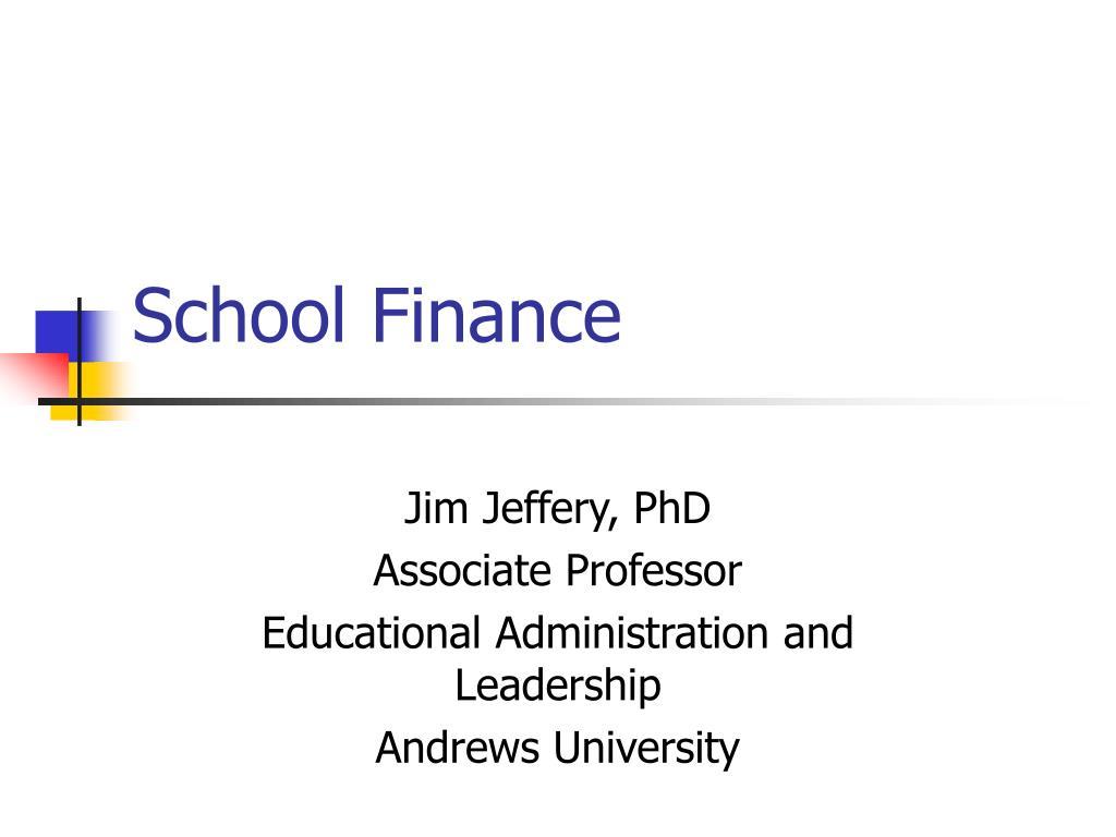school finance l.