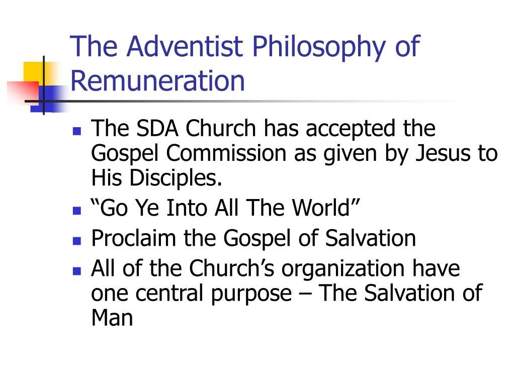 The Adventist Philosophy of Remuneration