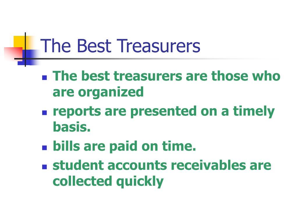 The Best Treasurers