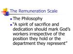 the remuneration scale