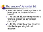 the scope of adventist ed