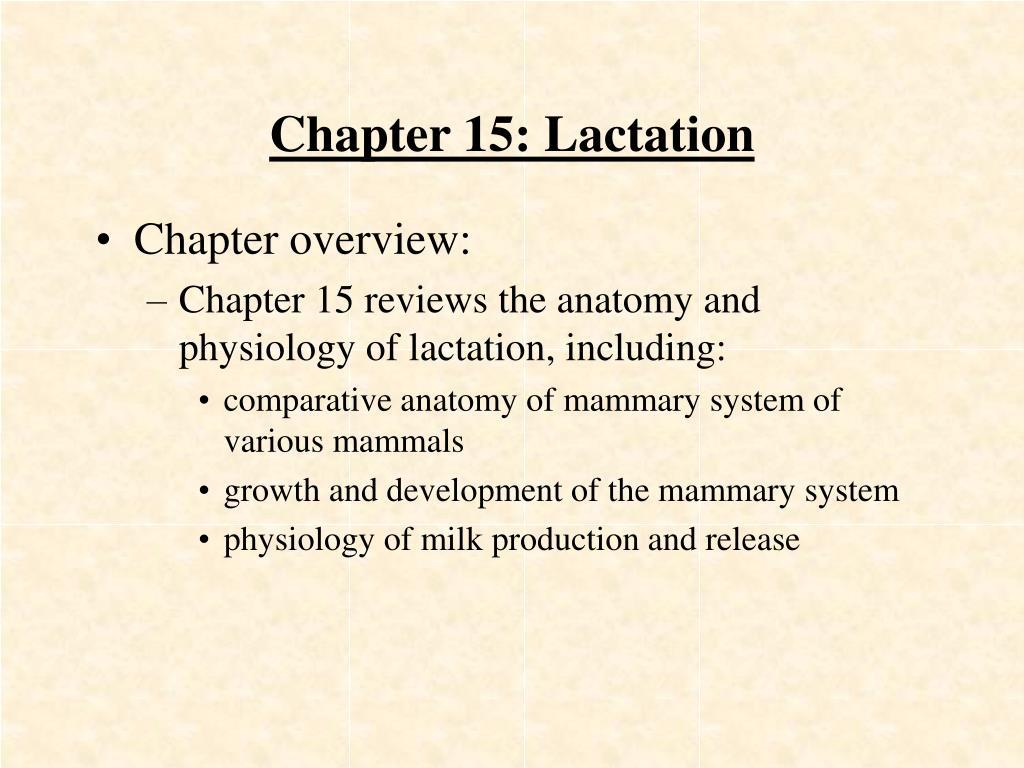 chapter 15 lactation l.