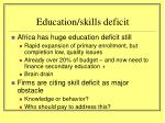 education skills deficit
