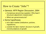 how to create jobs
