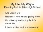 my life my way planning for life after high school