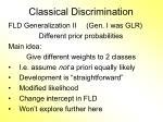 classical discrimination8