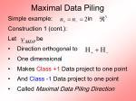 maximal data piling41